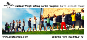 Boot Camp L.A. weight lifting